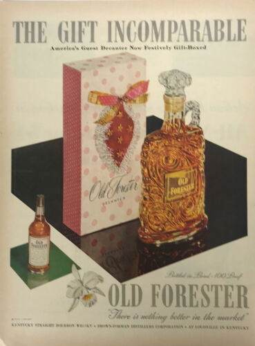 Old Forester Kentucky Bourbon Whisky Magazine Print Ad Vintage Liquor Drink