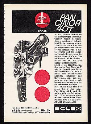 3w1073/ Alte Reklame - von 1960 - BOLEX PAILLARD Kameras