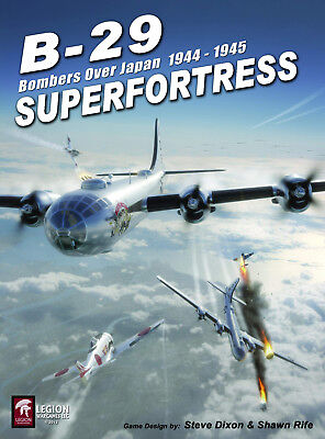 Legion Wargames B-29 Superfortress: Bombers Over Japan '44-'45 2nd Ed NEW In SW B-29 Superfortress Game