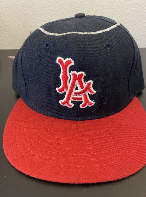 New 1961-1964 LOS ANGELES ANGELS 100% Wool THROWBACK Baseball Cap Fitted Size 7