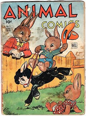 ANIMAL COMICS #7 1944 DELL Golden Age WALT KELLY Uncle Wiggly Cover