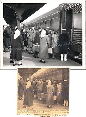 1951 La Crosse Wisconsin High School NYC DC Trip Burlington Train Depot Photo