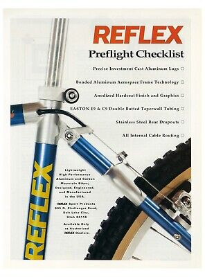 1991 REFLEX Sport Products - Mountain Bikes Bicycles Preflight vintage print ad