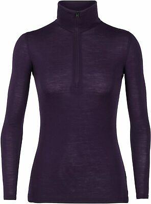 Icebreaker Women's 175 Merino Wool Half Zip Long Sleeve Top S Small - RRP £65