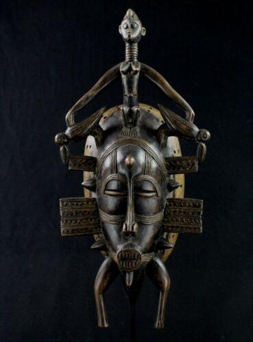 Art African tribal - Mask Kpelie Senoufo - Senufo African Mask - 40 CMS