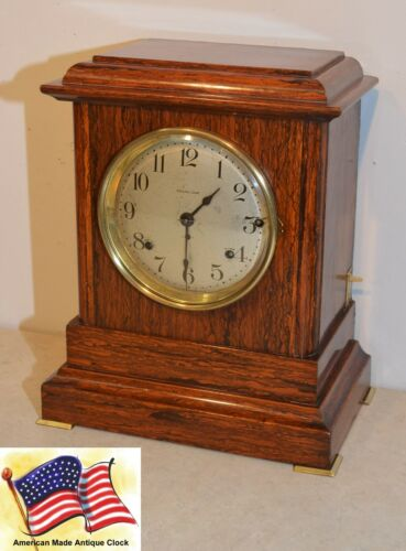 RESTORED SETH THOMAS ANTIQUE SONORA 2 - 1911 CHIME CLOCK WITH DEEP TONED BELLS