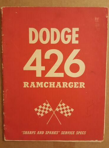 RARE Original 1963 Dodge 426 Ramcharger Sharps and Sparks Manual brochure