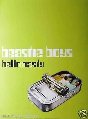 "BEASTIE BOYS ""HELLO NASTY"" U.S. PROMO POSTER - The Boys In Sardine Tin Can"