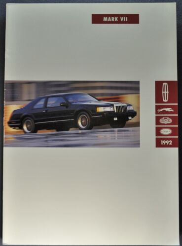 1992 Lincoln Mark VII Catalog Brochure LSC Bill Blass Excellent Original 92