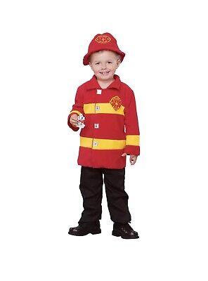 Brave Firefighter Toddler Boy Halloween Fleece Costume, Toddler Size 2T-4T (2t Fireman Costume)
