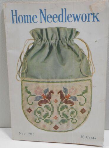 Vintage Home Needlework Magazine November 1915 Old Patterns 40 Pages