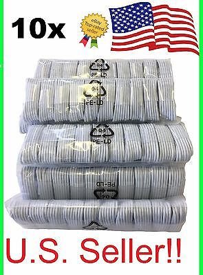 10 Pack Usb Sync Data Charging Charger Cables Cords For Apple Iphone 5 C S 6 6 7