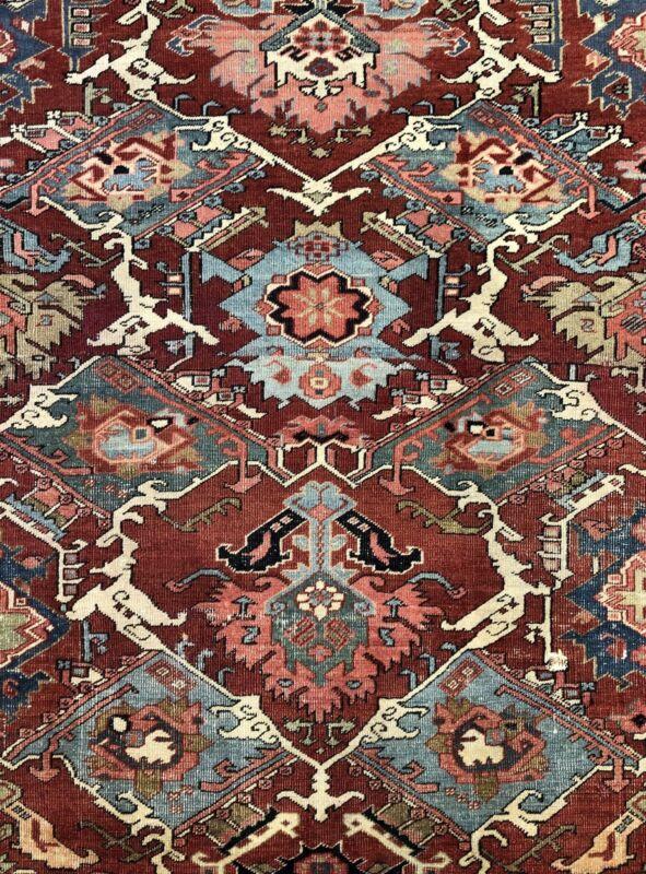 Tremendous Tribal - 1890s Antique Oriental Rug - Adjusted Carpet - 8.8 X 12.6 Ft