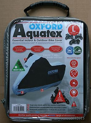 Oxford Aquatex Cover Outdoor & Indoor Motorbike Scooter Motorcycle size Large L