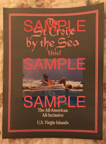 St Croix by the Sea Hotel Flyer - Vintage - Destroyed by Hurricane Hugo in 1989