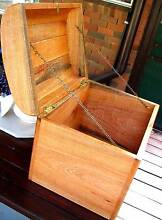 Wooden Treasure Chest Solid Slab Silky Oak Wood Box. Gympie Area Preview