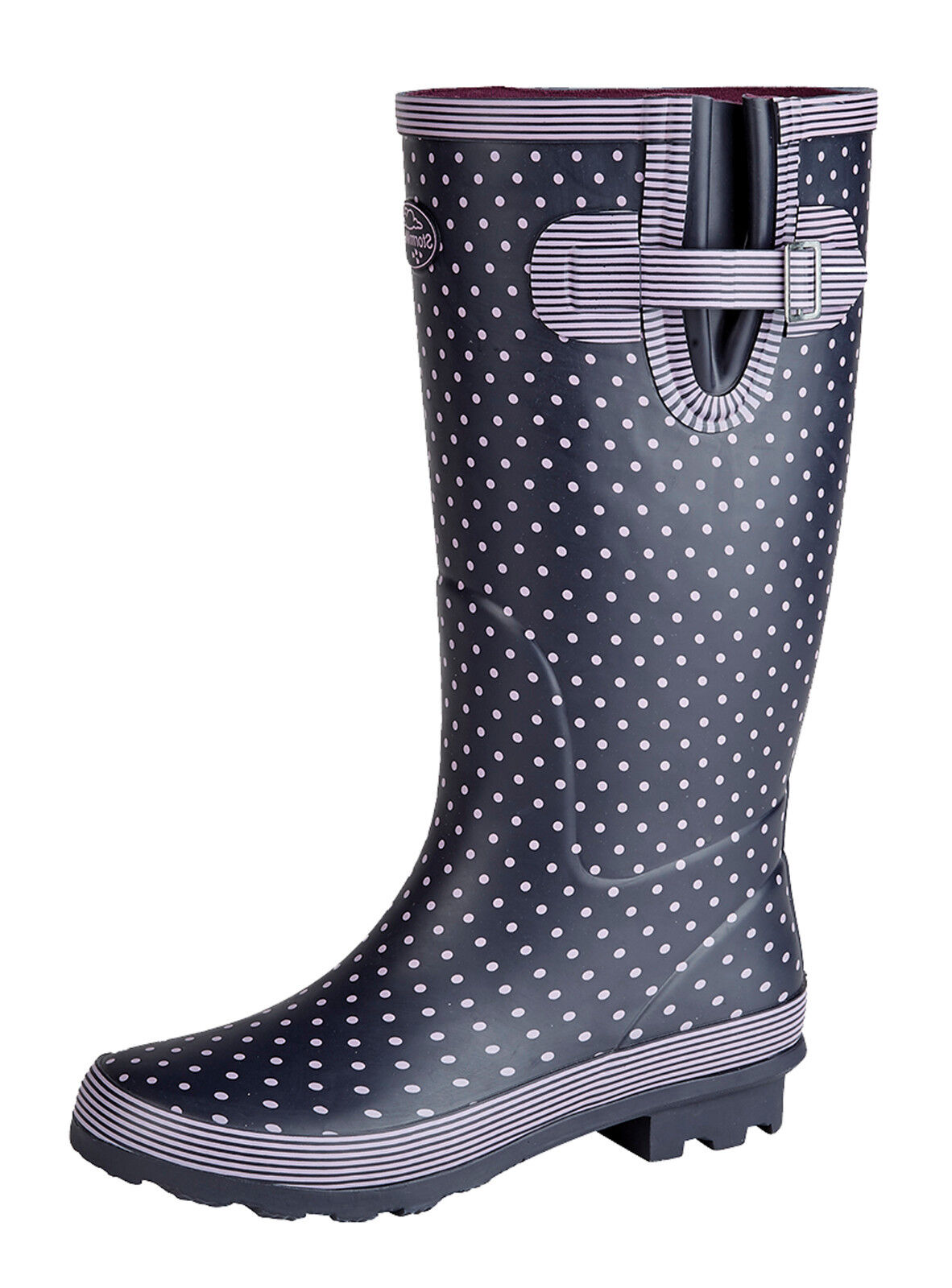 06457c1c423 Funky Festival Waterproof Boots. Wide Fitting Leg Avg.32cm High Leg Rubber  Sole Available in sizes 3 to 9.