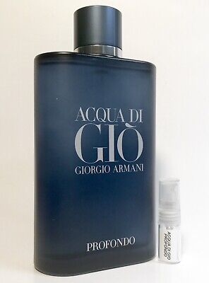 Armani Acqua Di Gio Profondo 2ml SAMPLE Code Prive Emporio