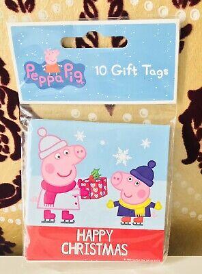 10 X Peppa Pig Christmas gift tags - New ()