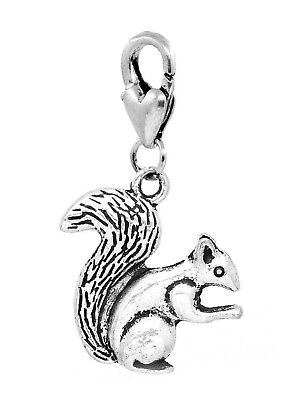 Squirrel Woodland Animal Woods Camping Lobster Claw Dangle Charm for - Woodland Animal