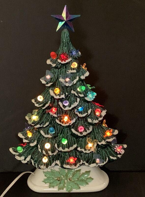 Flat Profile Ceramic Tabletop Christmas Tree