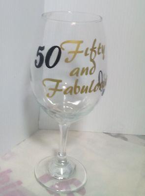 Fabulous 50 Birthday Glass](Fabulous 50 Birthday)