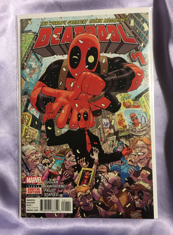 Deadpool (2015) #1~TONY MOORE (WALKING DEAD) COVER ART~RYAN REYNOLDS MOVIE~NM