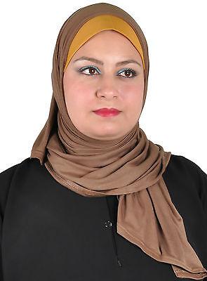 Zweiteiliges Hijab Kopftuch mit Bandana Islamisches Tuch Schal Untertuch Bone