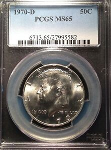 1970-D Kennedy Half Dollar  PCGS MS65                           Q-179