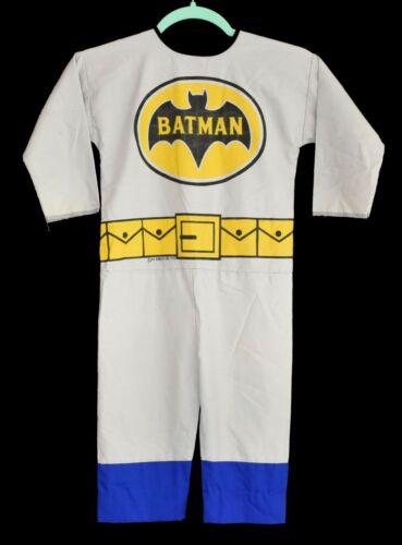Vintage 70s Ben Cooper Batman Cloth Play Suit Halloween Costume Size Small