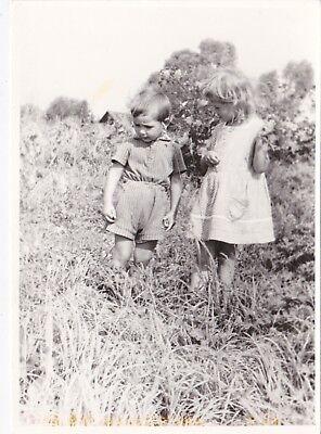 1960s Pretty little children outdoor boy girl fashion old Russian Soviet photo