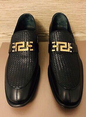 Versace Collection Men's Black Polished Leather Dress Shoes 8 M US, 41M EU