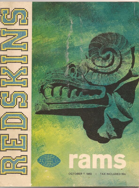 1962 Washington Redskins-Rams Program Snead & Dugan Team Up for Skins Win!!
