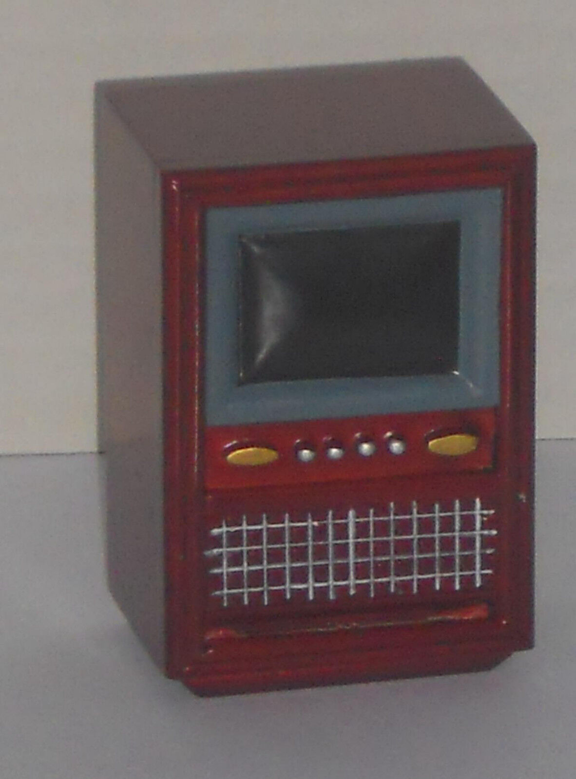Fernseher 60er Jahre, Maßstab 112, Miniatur f. d. PuppenstubePuppenhaus 14