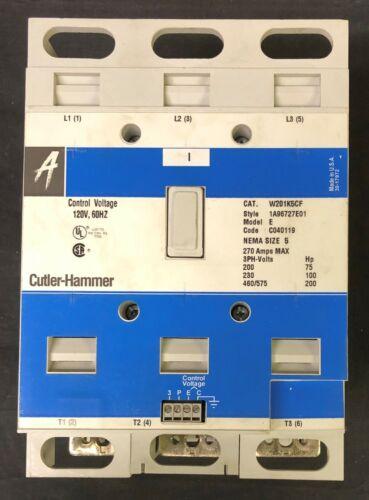 EATON CUTLER HAMMER W201K5CF 120V Size 5 W200 W201 Advantage Contactor