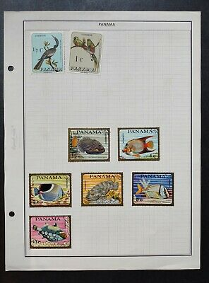 PANAMA STAMPS • MINT & Used lot • TROPICAL FISH, BIRDS all shown • 99c LOW START