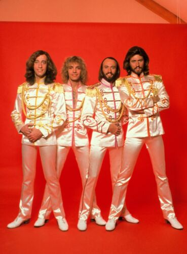 THE BEE GEES - MUSIC PHOTO #E-2 - WITH PETER FRAMPTON