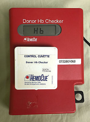 Hemocue Donor Hb Checker Photometer Analyzer And Control Cuvette Box