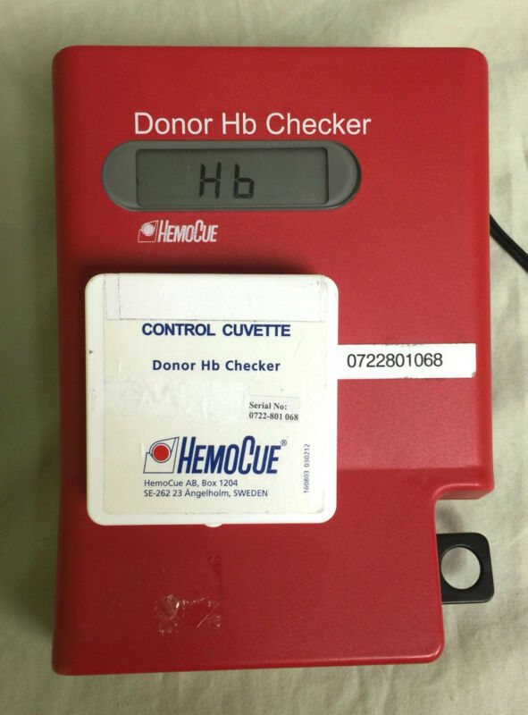 HemoCue Donor Hb Checker Photometer Analyzer and Control Cuvette Box