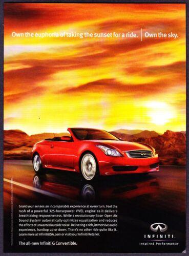 2009 Infiniti G Convertible photo Own the Euphoria & Sky promo print ad