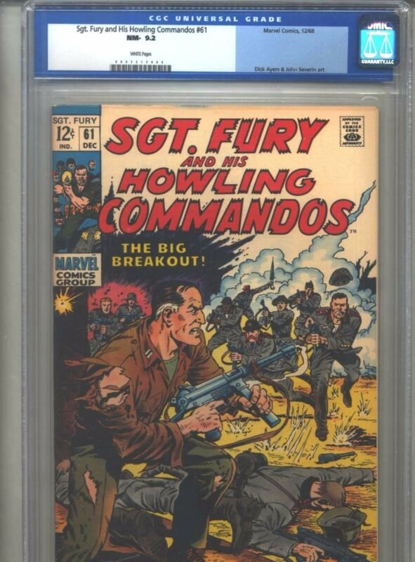 Sgt. Fury and His Howling Commandos #61 CGC 9.2 (1968) White Pages