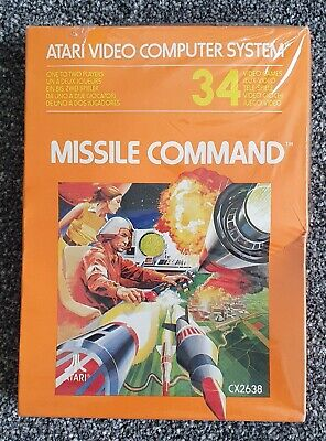Atari 2600 Missile Command Cartridge Boxed New in Original Cellophane CX2638 PAL