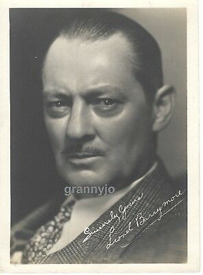 Original 1930's Photograph of a young actor, LIONEL BARRYMORE
