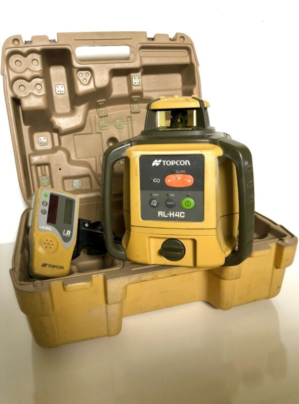 Topcon RL-H4C DB Rotary Laser Level with LS-80L Receiver & Holder - 23