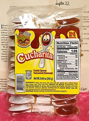 Mexican Candy Safari Tamarind Spoon / Cucharita Tamarindo - 2 Pack - 48 Pieces](Candy Spoons)