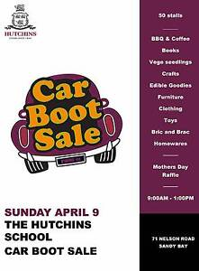 Car Boot Sale - The Hutchins School Sunday April 9 Bellerive Clarence Area Preview