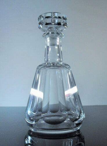 Antique Carafe Whisky Crystal Size Ribs Plates Talleyrand Baccarat Signed
