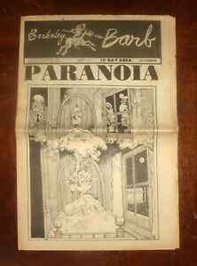 BERKELEY BARB UNDERGROUND NEWSPAPER August 22, 1969 Paranoia, Black Panthers