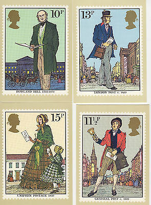 GREAT BRITAIN -  ROWLAND HILL - PHQ38 SET OF 4 - 1979