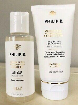 Philip B Weightless Volumizing Shampoo & Conditioner Travel Set $30 Retail Value